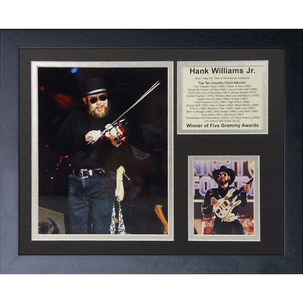 Hank Williams Jr. Framed Photographic Print by Legends Never Die