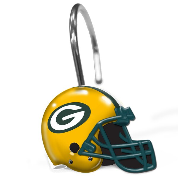 NFL Helmet Shower Curtain Hooks by Northwest Co.