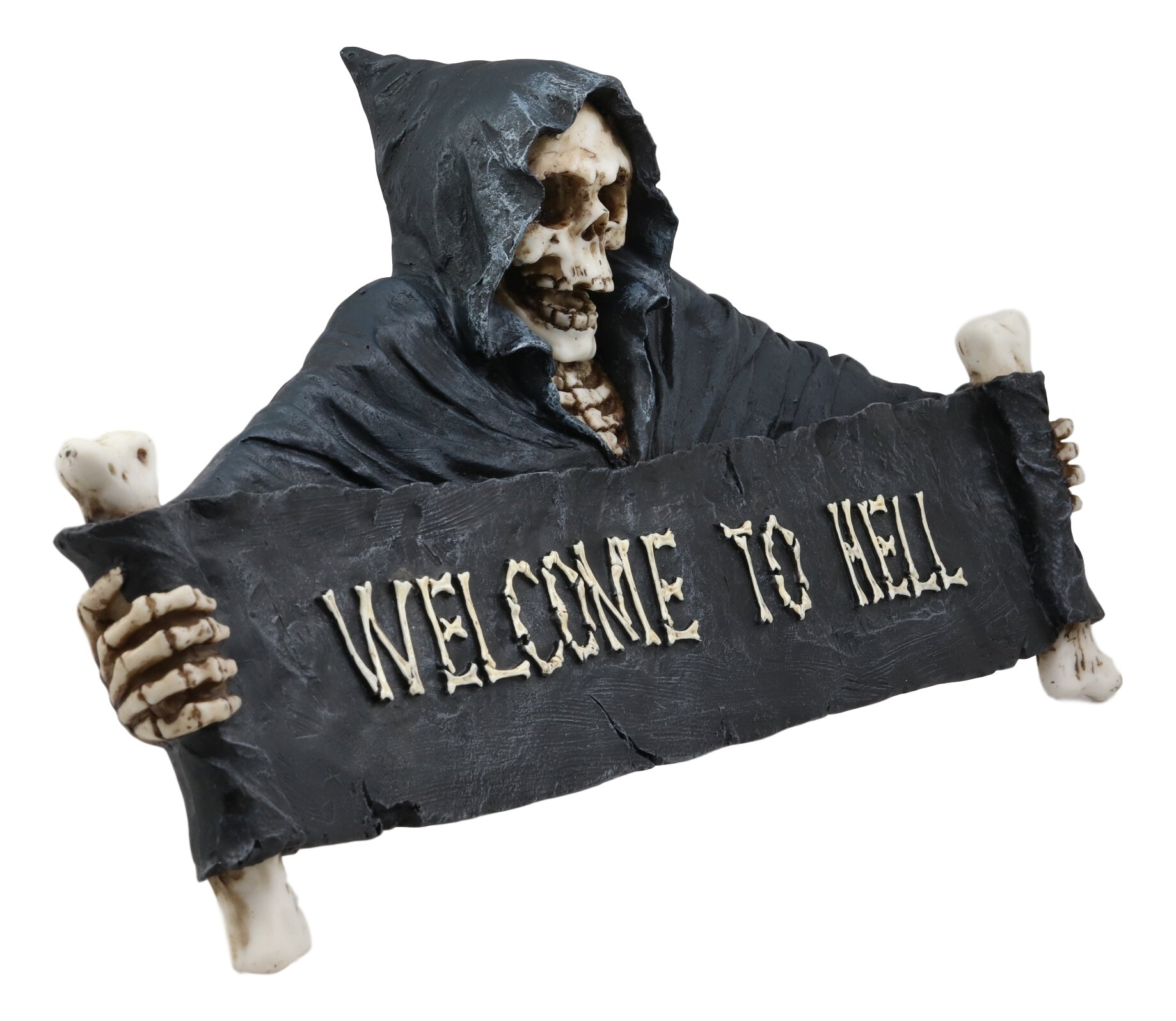 World Menagerie Grim Reaper Skeleton Opening Scroll Sign Bones Saying Wall Décor Wayfair