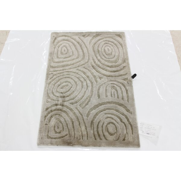 Mccraw Tibetan Hand-Knotted Gray Area Rug by Winston Porter