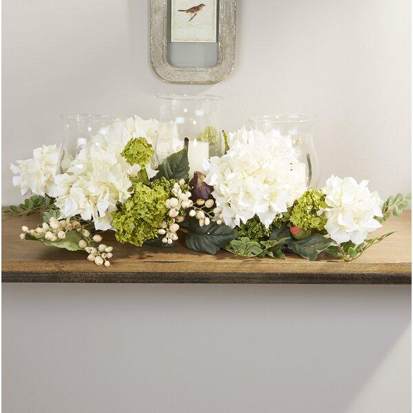 Hydrangea Centerpiece in Candelabrum by Darby Home Co