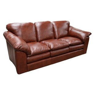 Oregon Leather Sofa by Omnia Leather