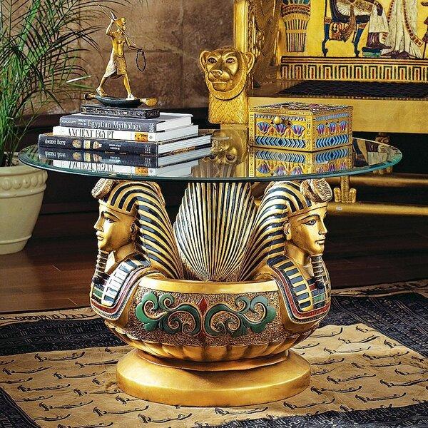 Three Heads Of Tutankhamen Sculptural Coffee Table by Design Toscano
