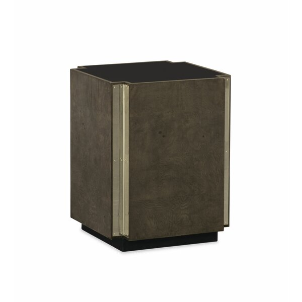 Ash Burl Pedestal End Table by Caracole Modern Caracole Modern
