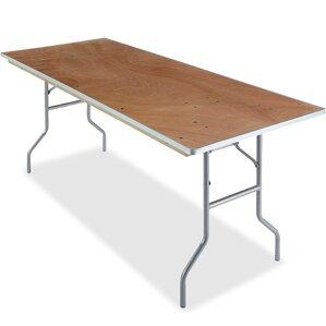 Natural Plywood Rectangular Folding Table