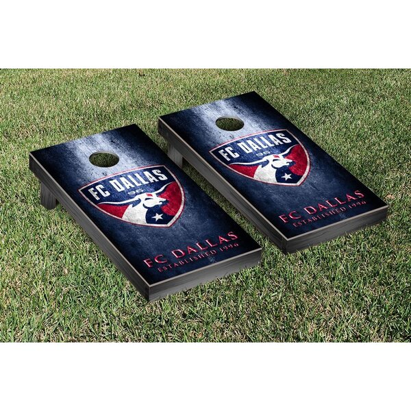 MLS FC Dallas FCDSC Soccer Metal Version Cornhole Game Set by Victory Tailgate