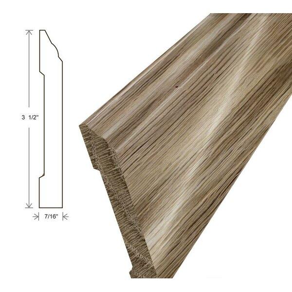 0.44 x 3.5 x 94 White Oak Wall Base by Moldings Online