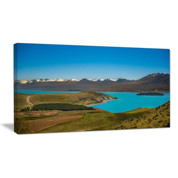Fantastic Calm Landscape of New Zealand Landscape Photographic Print on Wrapped Canvas by Design Art