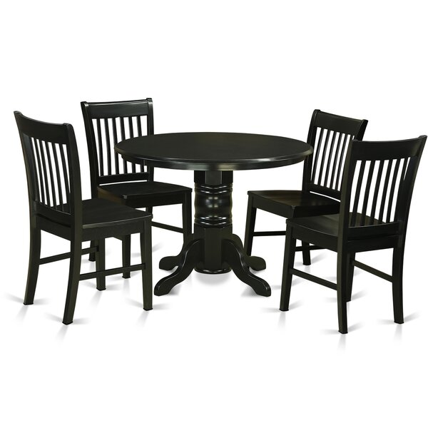 Sherlock 5 Piece Breakfast Nook Dining Set by August Grove