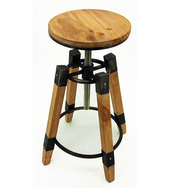 Wyland Adjustable Height Bar Stool (Set of 4) by Vandue Corporation