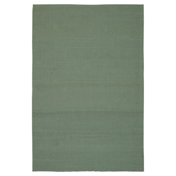 Hurst Hand-Woven Aqua Area Rug by Breakwater Bay