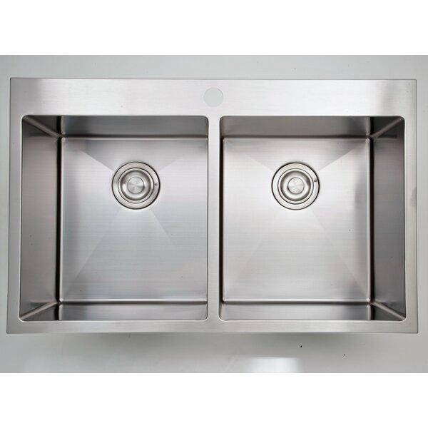 32 x 20 Double Basin Drop-In Kitchen Sink