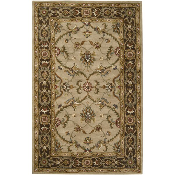 Queenswood Dark Brown/Tan Rug by Charlton Home