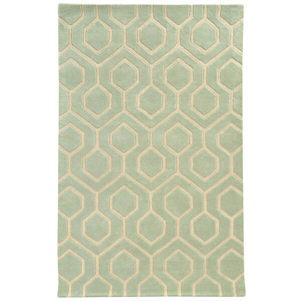 Optic Green/Ivory Geometric Area Rug by Pantone Universe