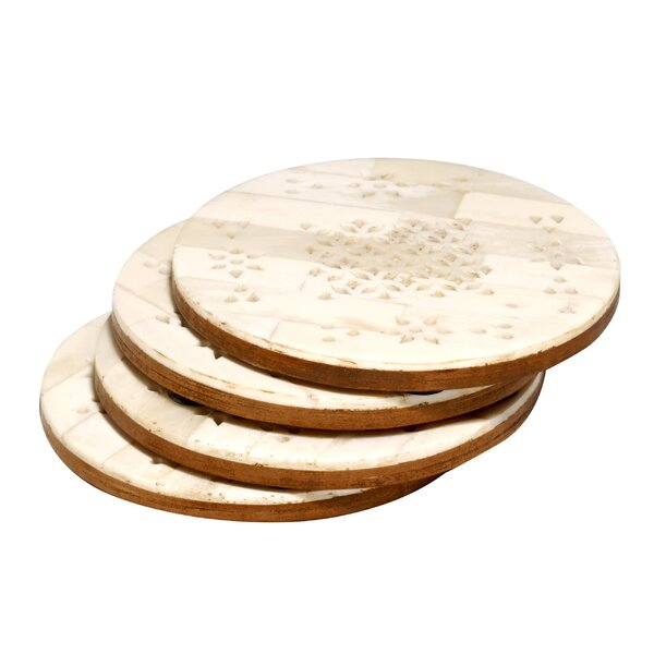 Round Coaster (Set of 4) by Bungalow Rose