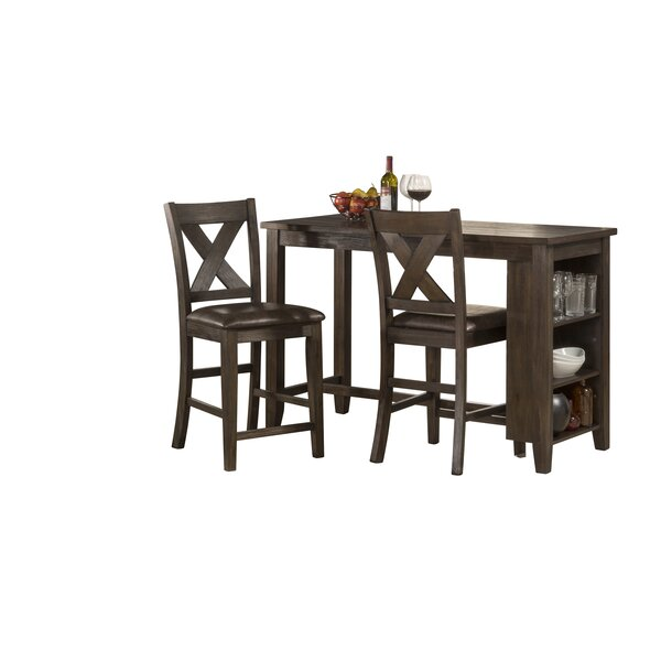 Balthrop Spencer 3 Piece Counter Height Dining Set by Gracie Oaks