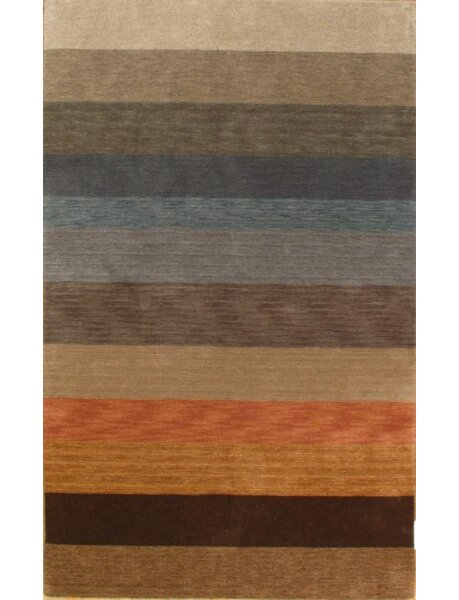 One-of-a-Kind Hand-Knotted Wool Blue/Orange Area Rug by Pasargad NY