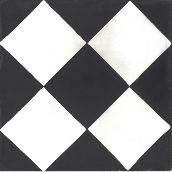 MeaLu 8 x 8 Checker Cement Decorative Concrete Tile (Set of 4) by Rustico Tile & Stone