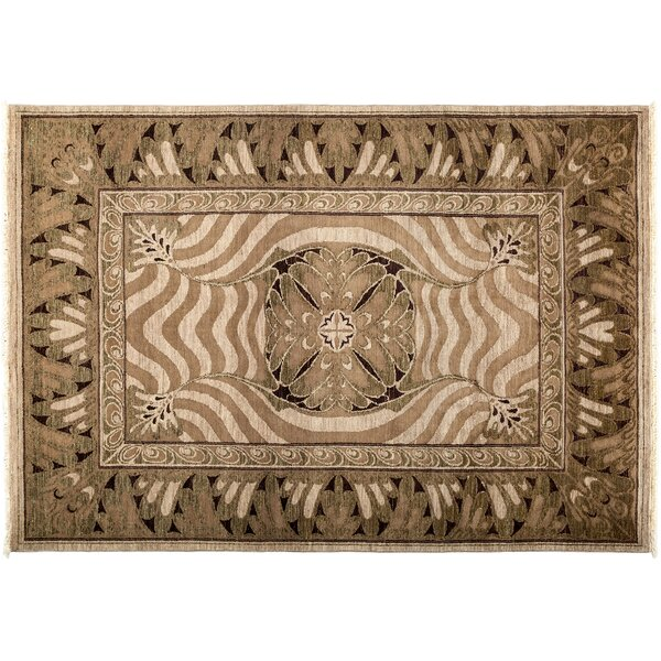 One-of-a-Kind Shalimar Hand-Knotted Brown Area Rug by Darya Rugs