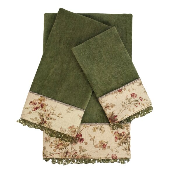 Decorative Embellished 3 Piece Towel Set by Sherry Kline