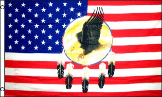 USA Dream Catcher Eagle Traditional Flag by Flags Importer