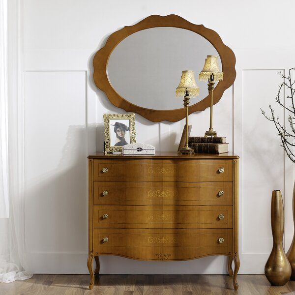 Royce 4 Drawer Dresser with Mirror by Canora Grey