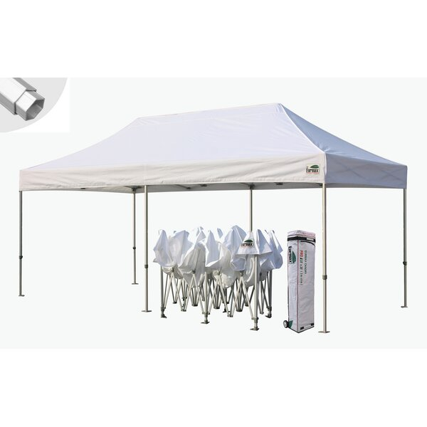 Premium 10 Ft. W x 20 Ft. D Metal Pop-Up Party Ten