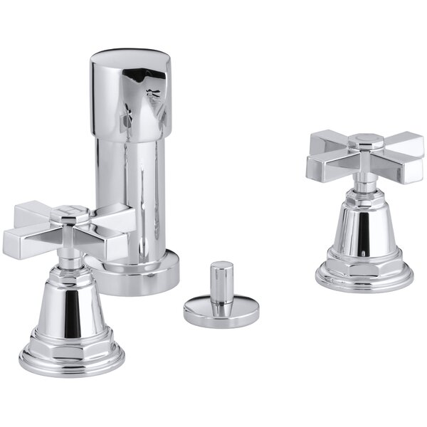 Pinstripe Pure Vertical Spray Bidet Faucet with Cross Handles by Kohler