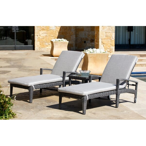 Swampscott Reclining Chaise Lounge Set with Sunbrella Cushions by Brayden Studio