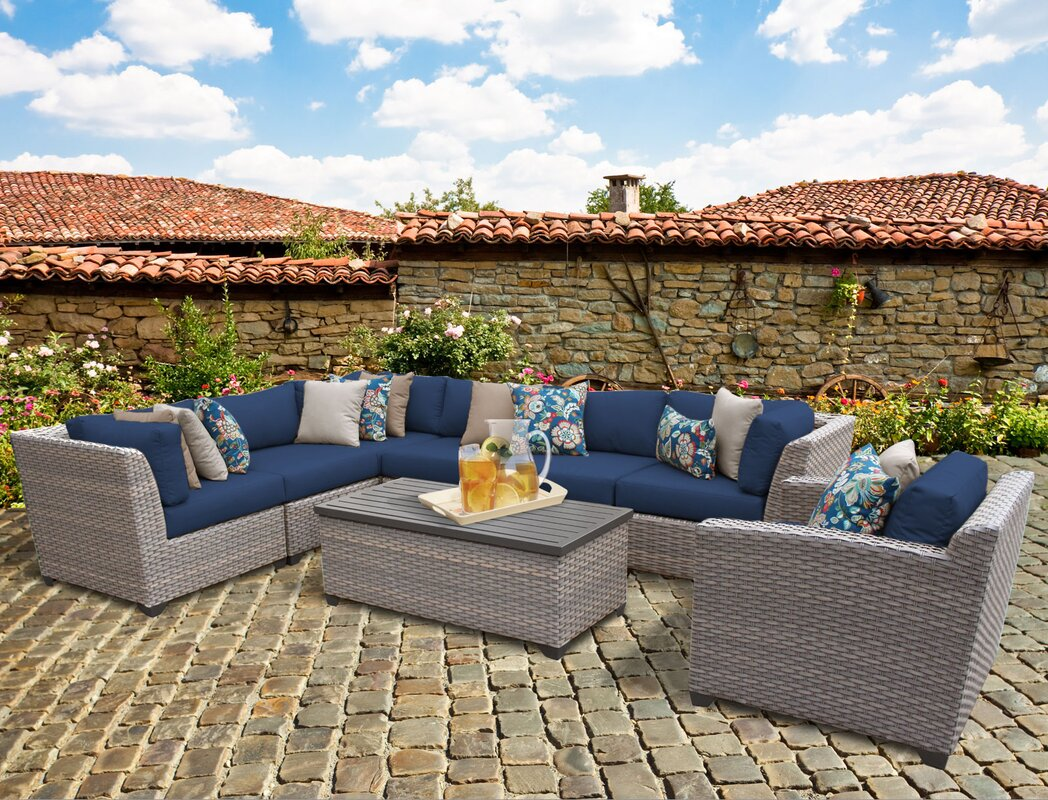 Budget For Florence 8 Piece Rattan Sectional Set With