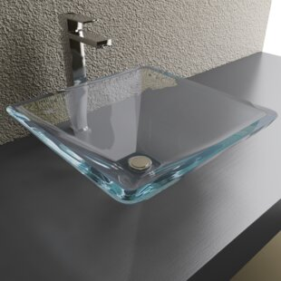 Reviews Glass Square Vessel Bathroom Sink By Cantrio Koncepts