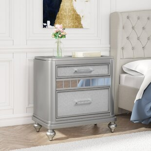 Reviews Adhafera 2 Drawer Nightstand by Rosdorf Park