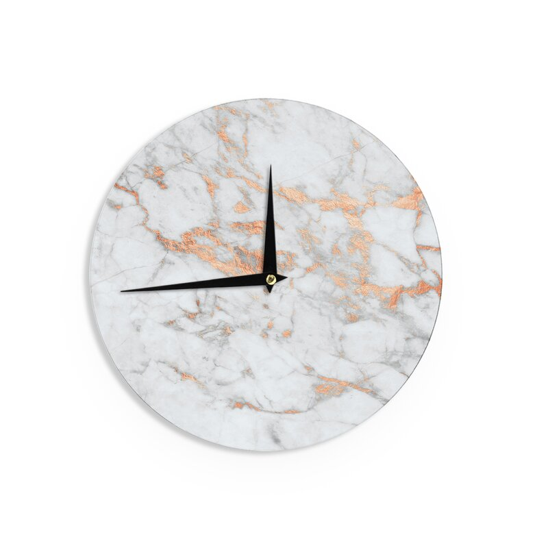 Beadnell 'Rose Gold Flake' 12 in. Wall Clock