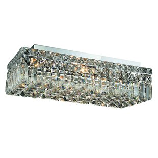 Find for Bratton 4-Light Flush Mount By Rosdorf Park