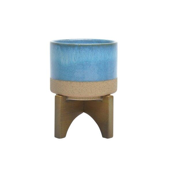 Larraine Round Decorative Ceramic Pot Planter by Bungalow Rose