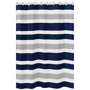 Compare & Buy Stripe Brushed Microfiber Shower Curtain BySweet Jojo Designs