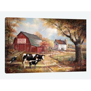 'Memories on the Farm'  Print on Canvas by East Urban Home