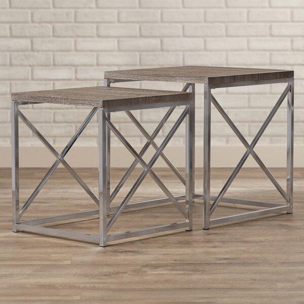 Alvar 2 Piece Nesting Tables by Willa Arlo Interiors