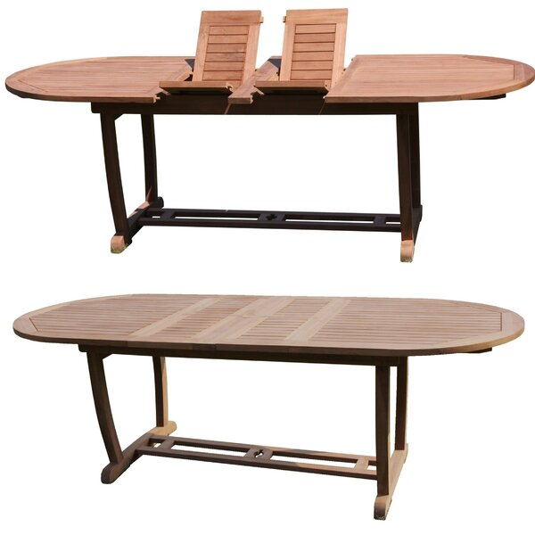 Reynaldo Extendable Teak Dining Table by Rosecliff Heights
