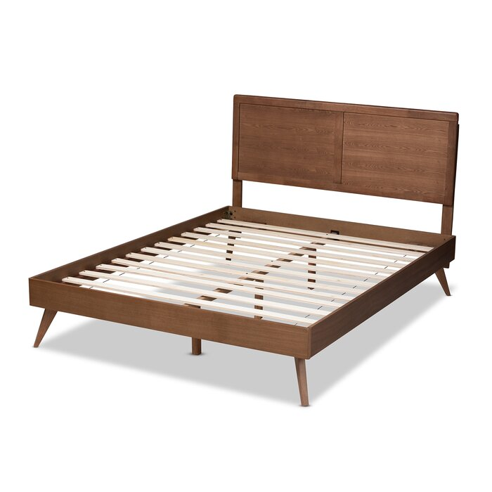 Zenon Mid-Century Modern Platform Bed