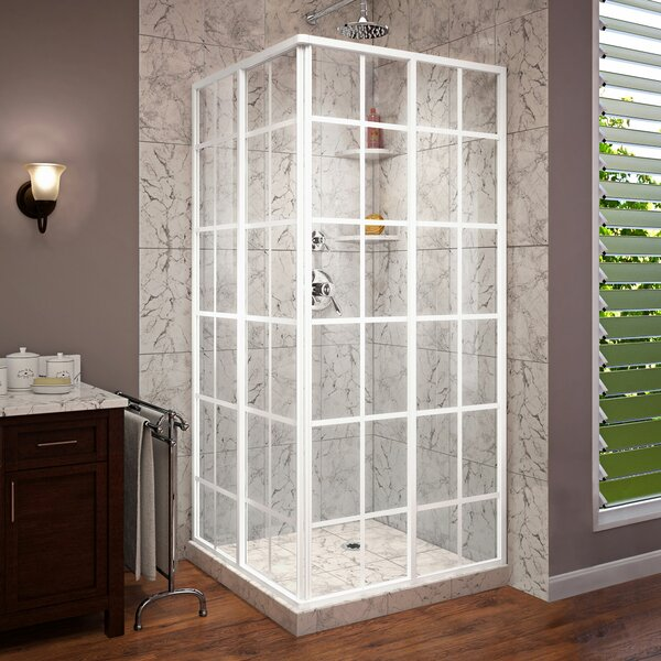 French Corner 34.5 x 72 Square Sliding Shower Enclosure by DreamLine