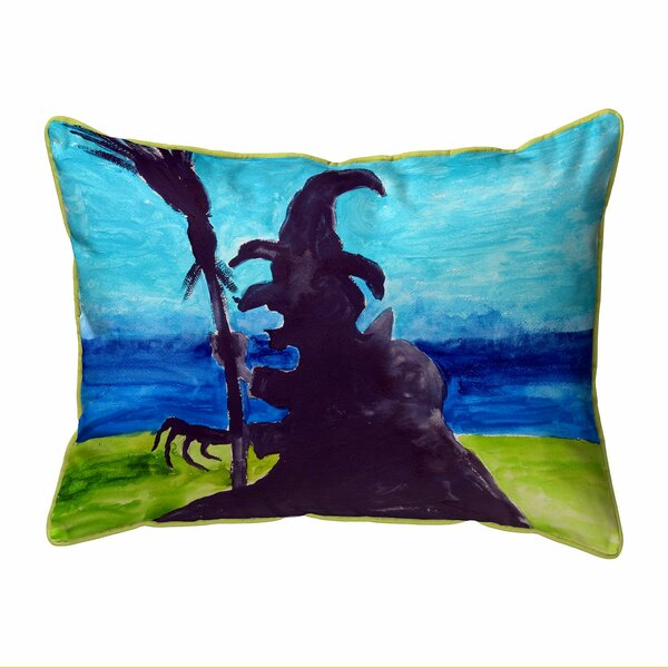 Sthilaire Wicked Witch Zippered Indoor/Outdoor Lumbar Pillow