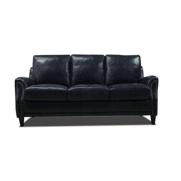 Anya Leather Sofa by Williston Forge
