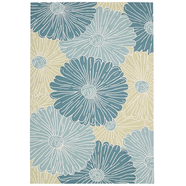 York Hand-Hooked Blue Area Rug by Charlton Home