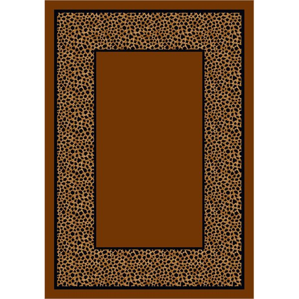 Design Center Brown Simaruba Cheetah Area Rug by Milliken