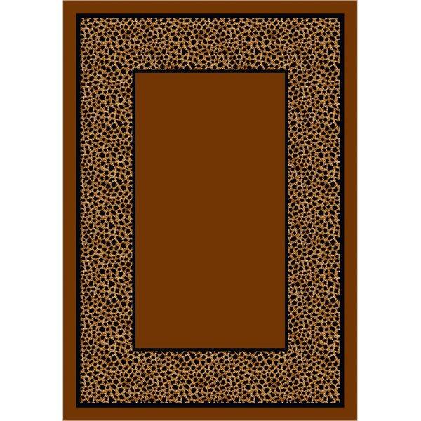 Design Center Brown Simaruba Cheetah Area Rug by Milliken