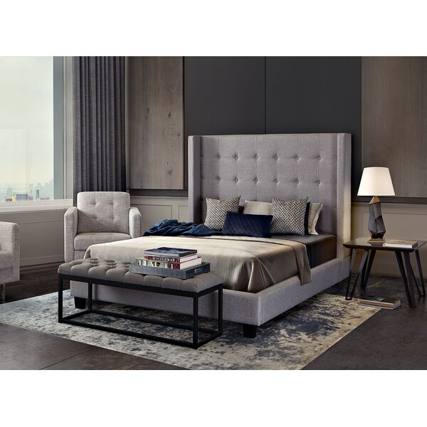 Madison Ave Upholstered Panel Bed by Diamond Sofa
