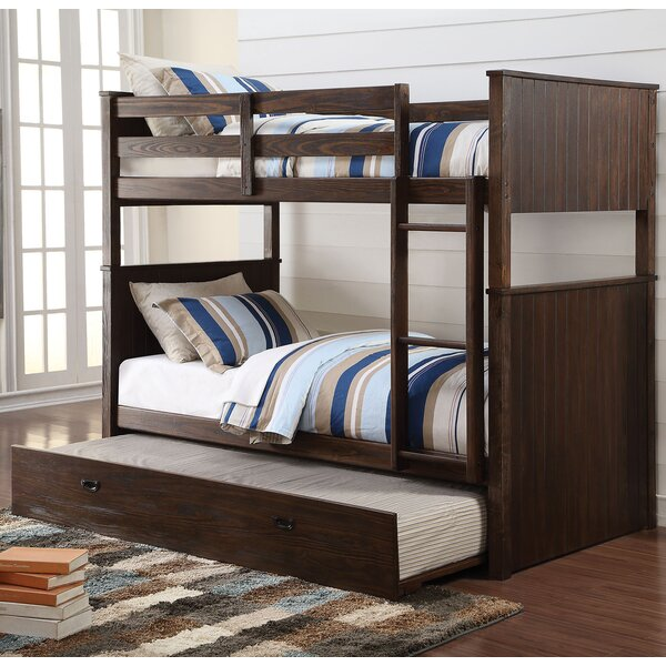 Lawerence Antique Charcoal Twin over Twin Bunk Bed by Harriet Bee