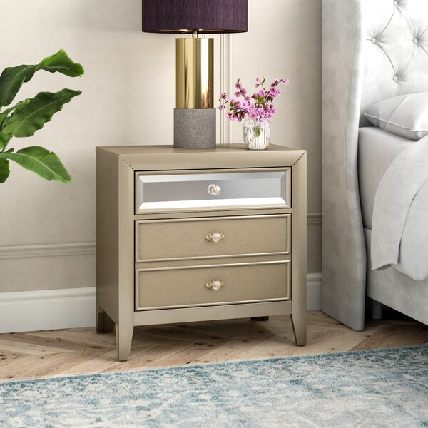 Gottfried 2 Drawer Nightstand by Willa Arlo Interiors