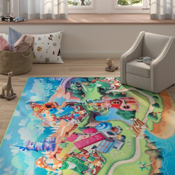 Hirsch Blue/Green Area Rug by Zoomie Kids